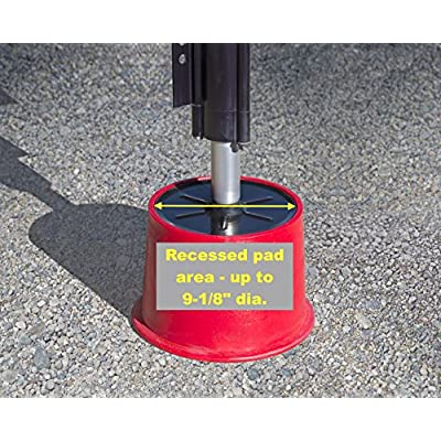 Andersen Hitches 3608 x2 | Trailer Jack Block with Magnets | Camper, RV Jack | Stabilize Your RV, Trailer, Camper - Eliminate Sway | Andersen Bumper Stickers Included: Automotive