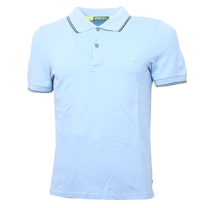 Shockly - Polo - para Hombre Azul Claro XS: Amazon.es: Ropa y ...