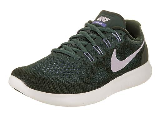 71973efa8 Nike Women s Free Rn 2017 Vintage Green Provence Purple Running Shoe 8.5  Women US  Amazon.co.uk  Shoes   Bags