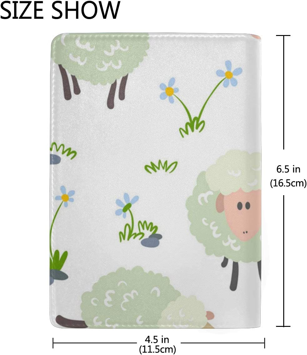 Sheep Theme Wild Multi-purpose Travel Passport Set With Storage Bag Leather Passport Holder Passport Holder With Passport Holder Travel Wallet