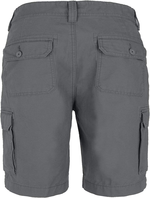Mens Cargo Combat Shorts Work Wear Cotton Chino Casual Half Pant