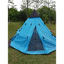 DANCHEL 3.6x3.6x2m 12x12x6.5ft Teepee Camping Tent Waterproof Large Tent Tipi