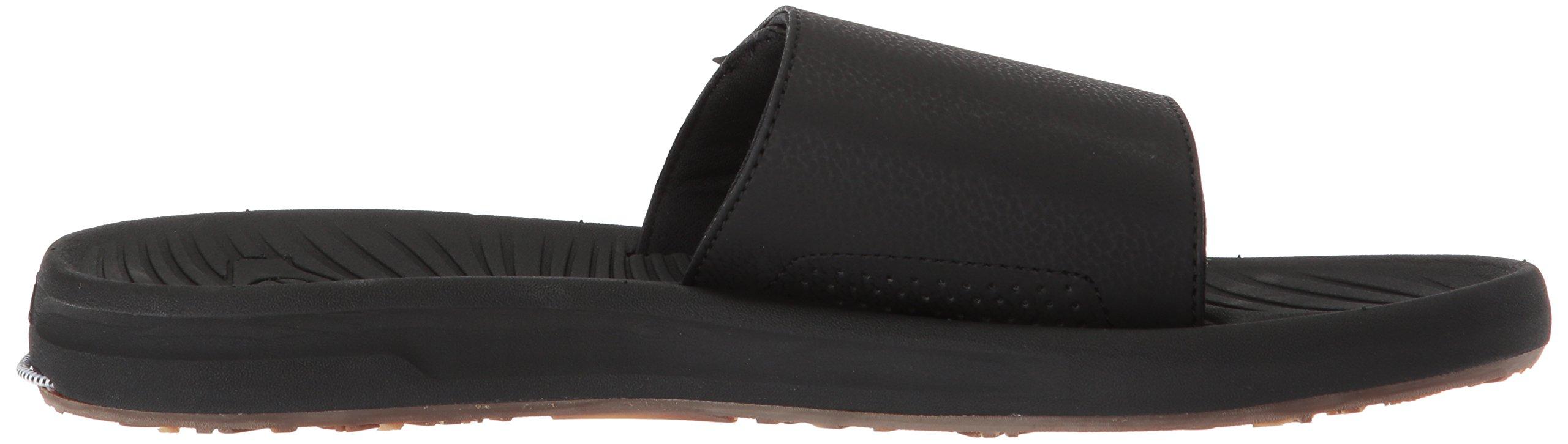 Quiksilver Men's Travel Oasis Slide Sandal, Black/Black/Brown, 8(41) M US by Quiksilver (Image #6)