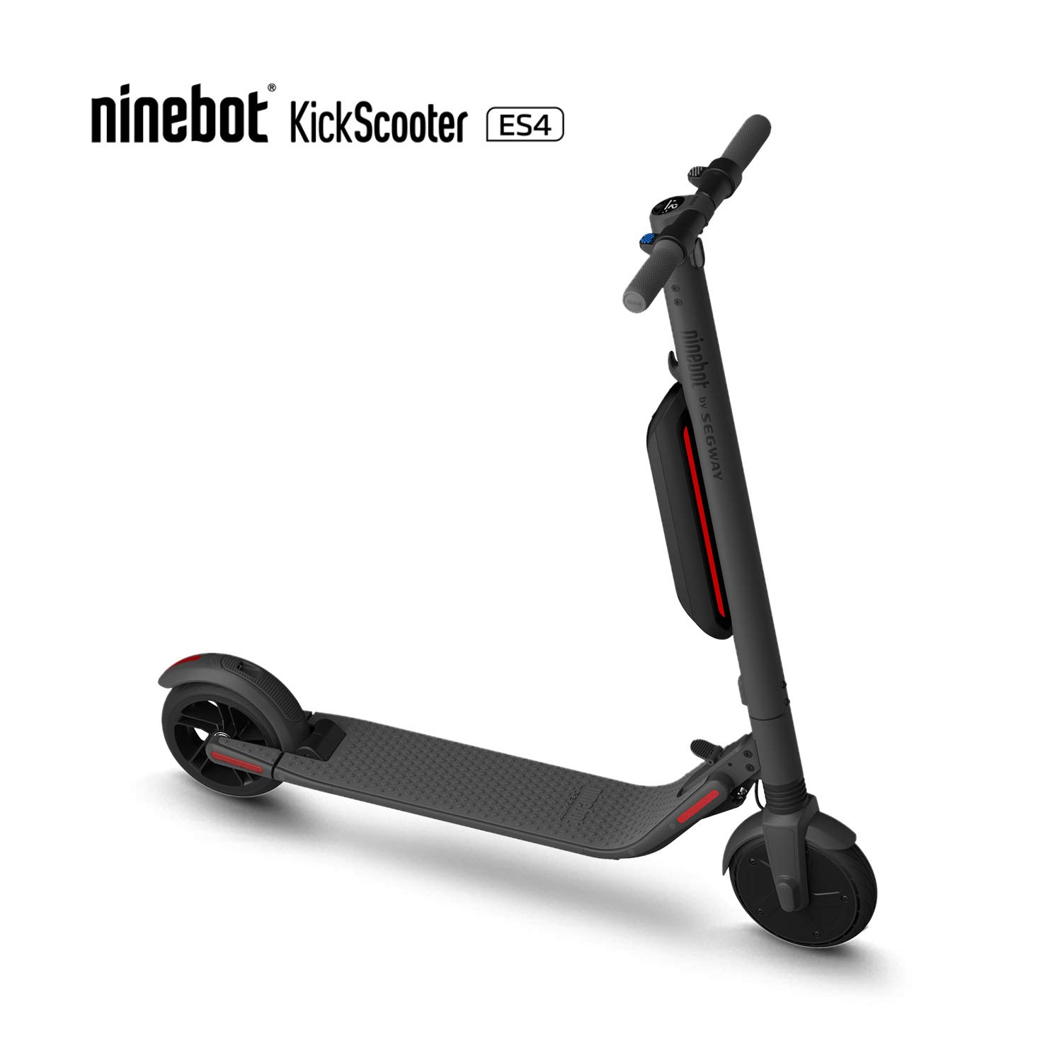 Segway Ninebot ES4 Folding Electric Kick Scooter with Second Battery, Dark Grey (2019 Version) by SEGWAY