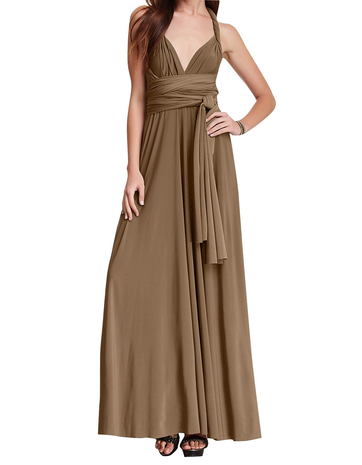 IBTOM CASTLE Womens Transformer/Wrap Infinity Dresses Maxi Cocktail Gown Long Dress