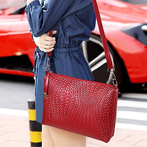 HT Women Bag Set - Bolso de asas para mujer Rosso