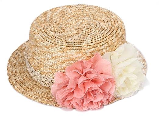 3fca60491fa Cupcinu Straw Hats Summer Sun Beach Hats Flower Lace Wide Brim Wreath  Decoration Foldable Packable Cap