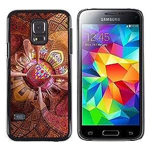 EJOY---Cubierta de la caja de protección la piel dura para el / Samsung Galaxy S5 Mini, SM-G800 / --Techo psicodélico