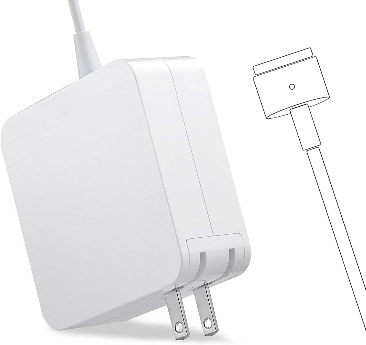 Universal Charger, Mac Book Pro Charger 60W Power Adapter Mac Charger Compatible with 13-inch Laptop Mac Book Pro Models(Introduced in 2012 Through 2015)