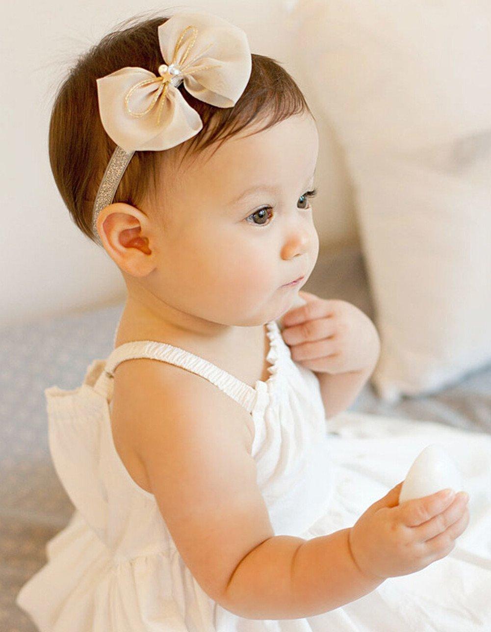 Baby-Haar-B/änder Handgemachte DIY Kopfbedeckung Kopf Zubeh/ör Republe Kinder Neugeborene Kleinkind-Baby-Blumen-Stirnband-Rosa-Band-Stirnband