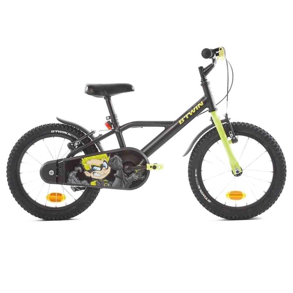 HAIZHEN マウンテンバイク ソニックボーイズジュニアバイク16インチ 新生児 B07C6RF36X ブラック ブラック