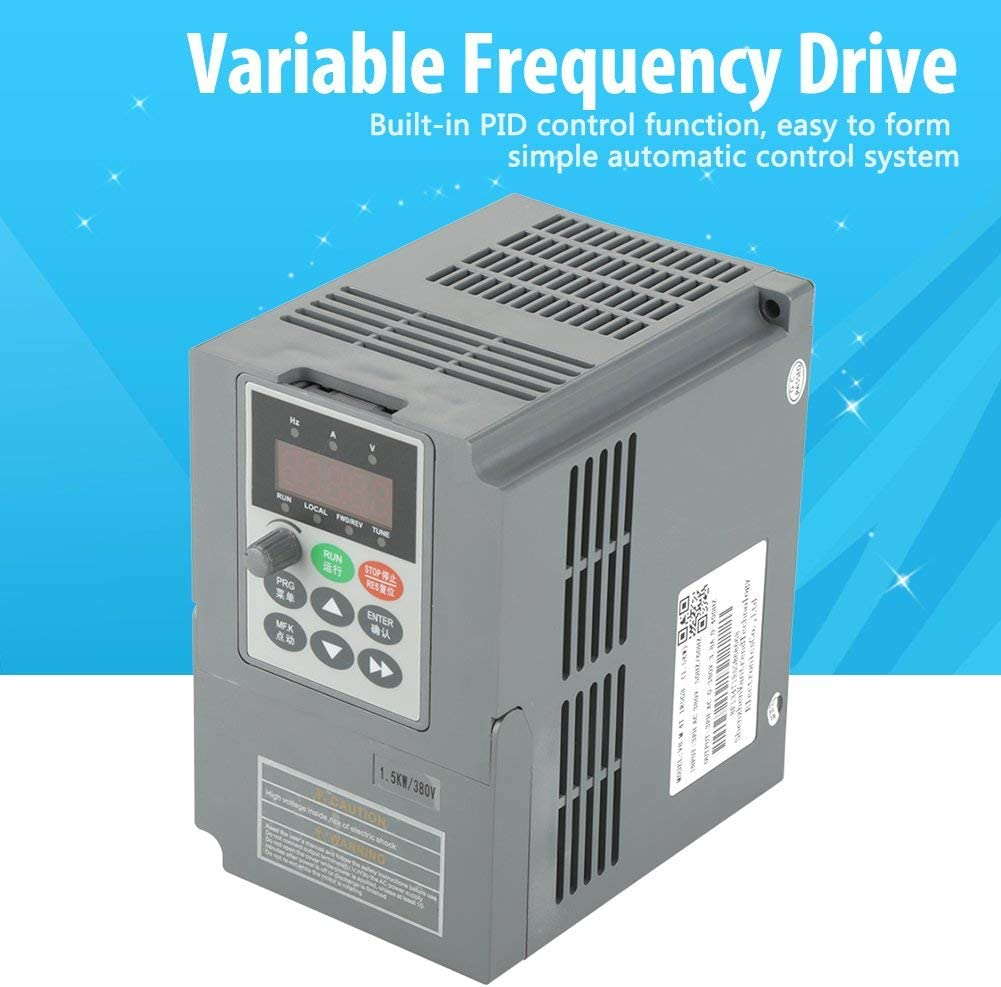LHQ-HQ VFD Motor 1.5kW Single-Phase CNC Converter Professional Inverter Controller for 3 Phase Motor Speed Control Variable Frequency Drive