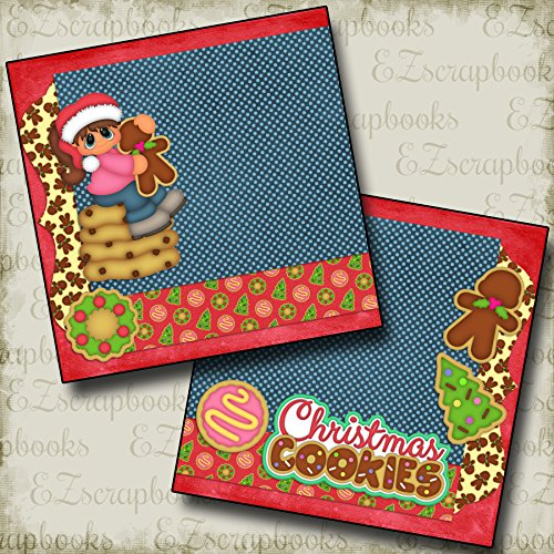 (Christmas Cookies Girl NPM - Premade Scrapbook Pages - EZ Layout 2276)
