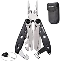 Multitool Pliers,18-in-1 Multi-Purpose Pocket Knife Pliers Kit, Durable Stainless Steel Multi-Plier Multi-Tool for Survival, Camping, Hunting, Fishing