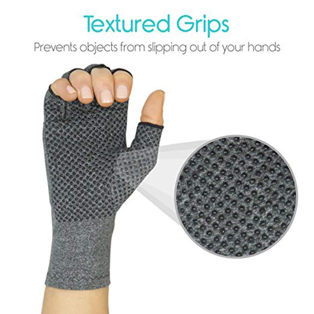 L Grey SUPVOX Guantes de artritis ofrecen calor y compresi/ón para alivio del dolor de artritis reumatoide y osteoartritis