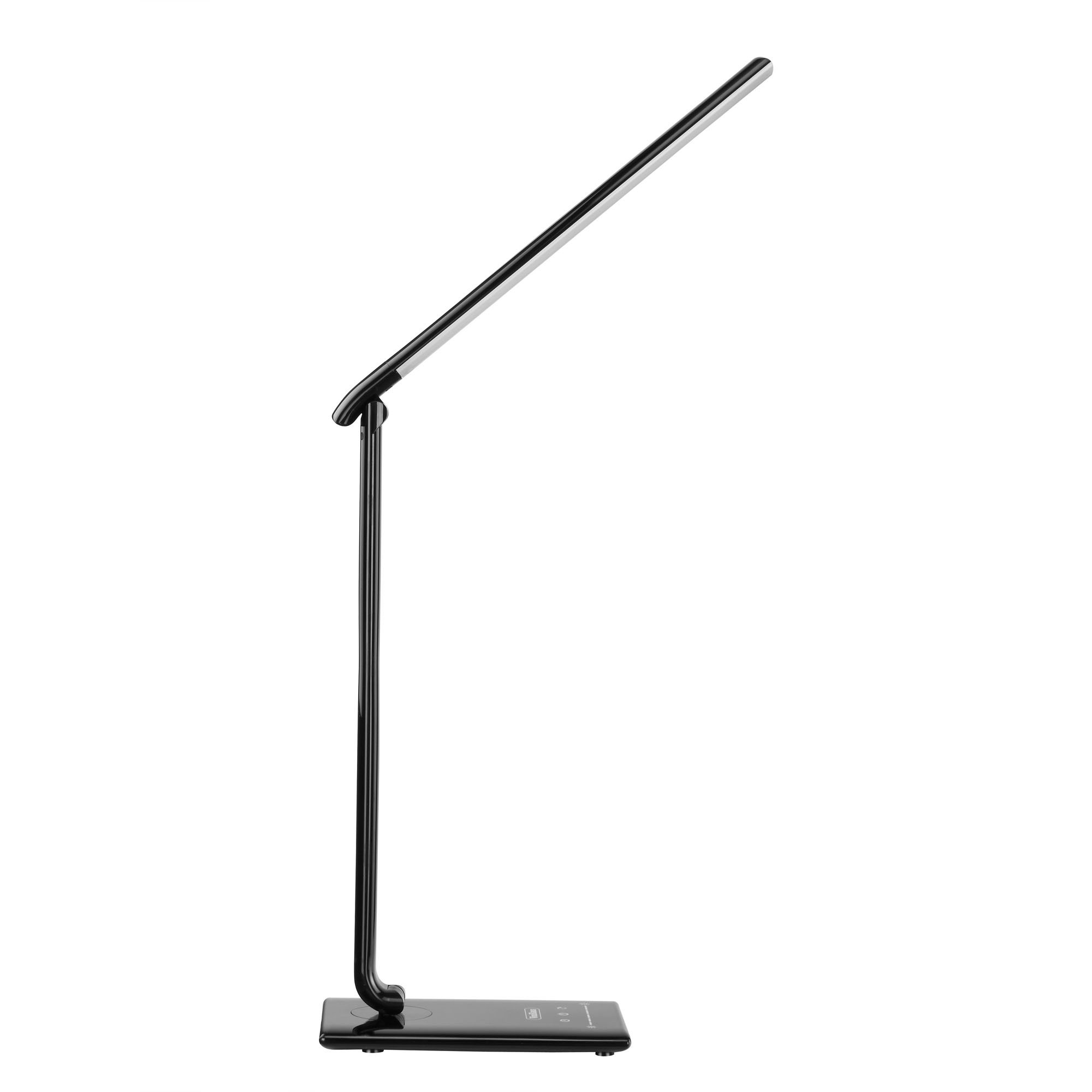 VonHaus Black Standing + Folding LED Desk Lamp with USB Charger, 7 Level Dimmer, Touch Control & Timer - College Student, Bedroom, Office, Hobby or Modern Table Lamp by VonHaus (Image #4)