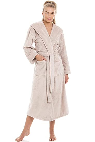 df7ffb92d5 Camille Womens Super Soft Fleece Mink Dressing Gown  Camille  Amazon.co.uk   Clothing