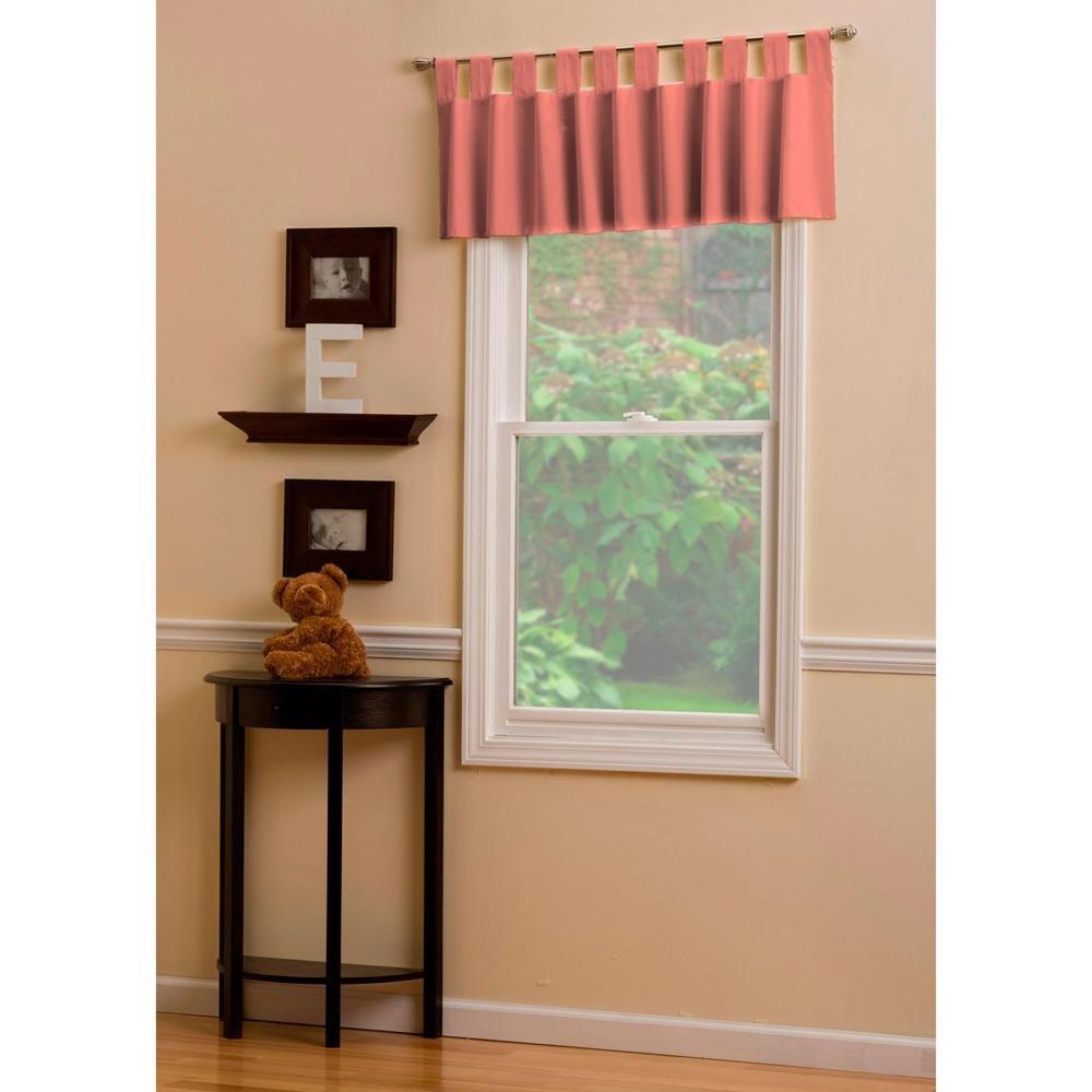 Carousel Designs Solid Orange Window Valance Tab-Top