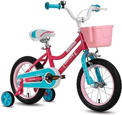 Kids Bike for Girls 14 Inch for 3-6 Years Children Training Wheels FREE HELMET