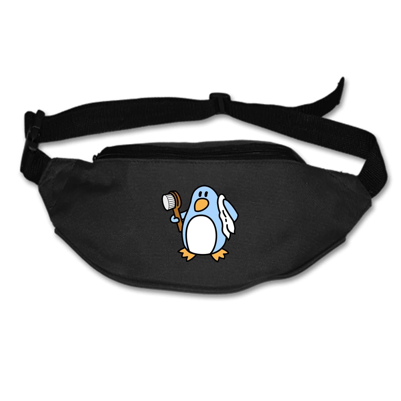 Showering Penguin Waist Pack - Standard, Black,Blue, One Size