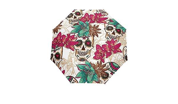ad6d4cb36ec0 Amazon.com: DEYYA Halloween Rose Sugar Skulls Windproof Travel ...