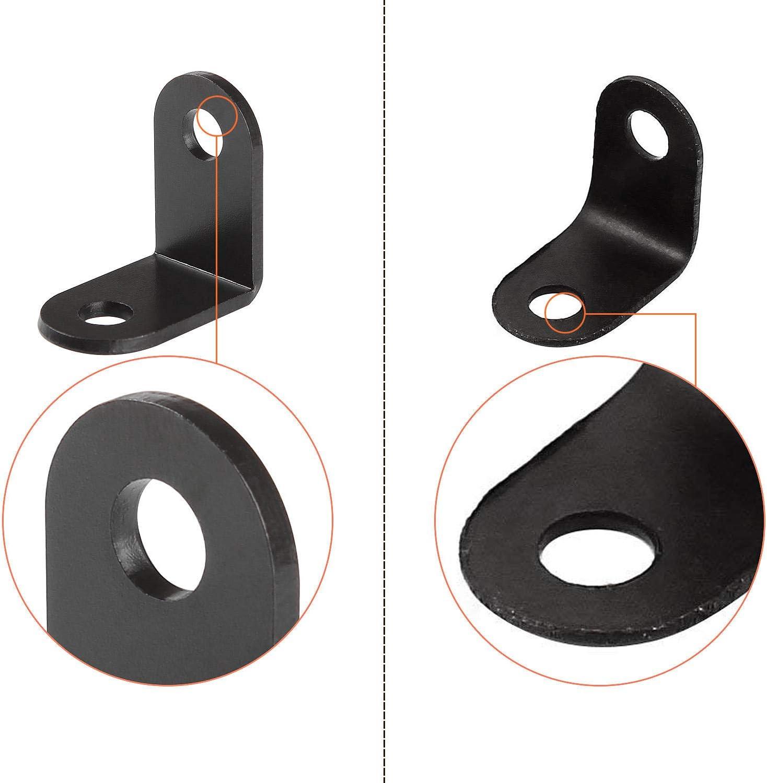 Halterung in L-Form 1 x 1 x 0,6 cm Tisch Stuhl Starvast Befestigungswinkel T/ür Schwarz Winkel f/ür Regal aus Holz Schrank Winkelwinkel schwarz 50 St/ück