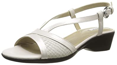 f0c3e51aade29 Geox D New Coral A, Sandales Femme, Blanc (C1002), 35 EU  Amazon.fr ...