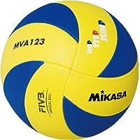 Mikasa Mva123 Sentetik Deri Voleybol Topu, Unisex, Sarı / Mavi, 5