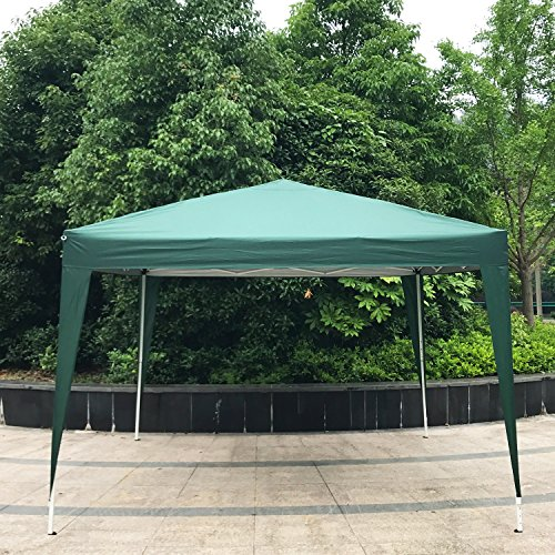 Peach Tree Canopy Wedding Party Tent Heavy Duty Outdoor Gazebo, 10Ft By 10Ft, Green by Peachtree Press Inc