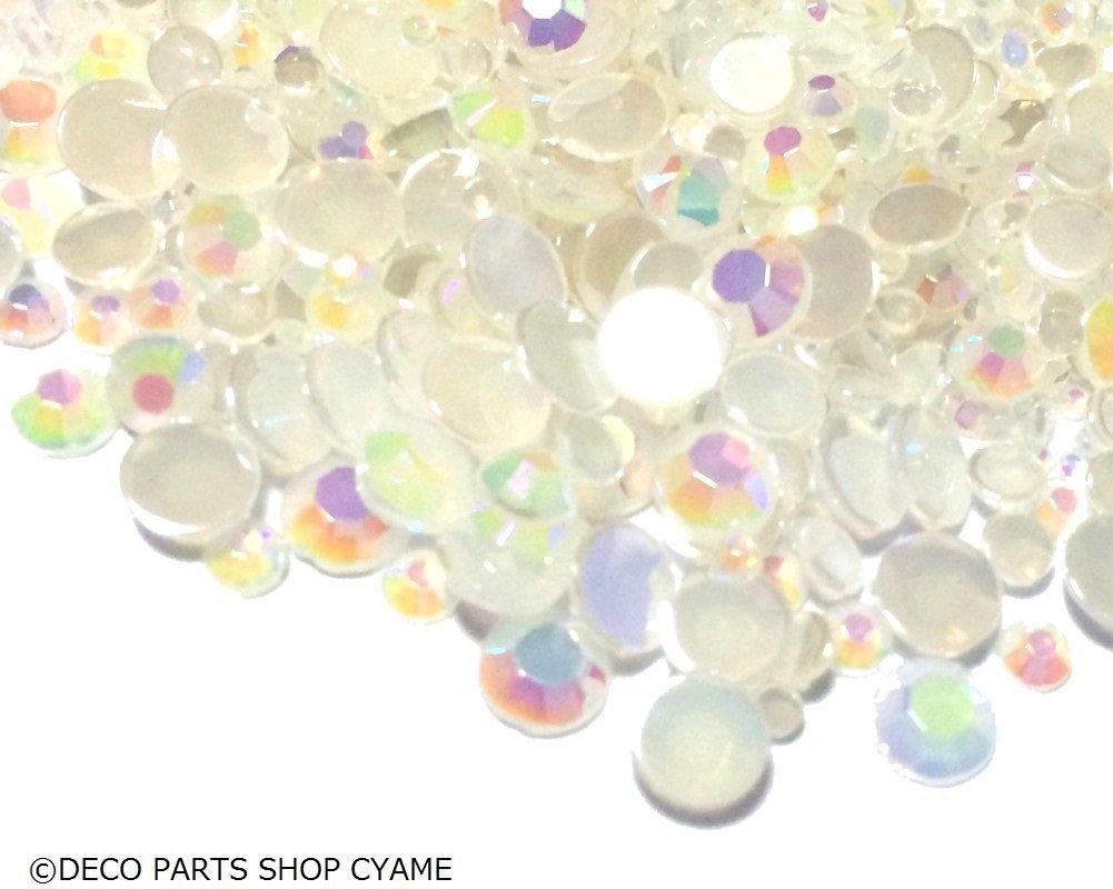 Soccik Rundbohrer Acryl Diamanten Glassteine Deko Aurora Bohrer Steine Deko Kristalle Diamanten Für Schmuck 800 Stück Weiß