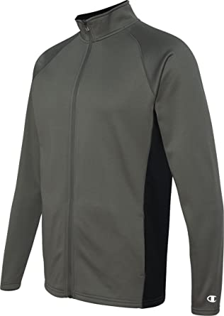 5.4 Oz.Performance chaqueta polar con cremallera completa, Gris pizarra Hthr, S