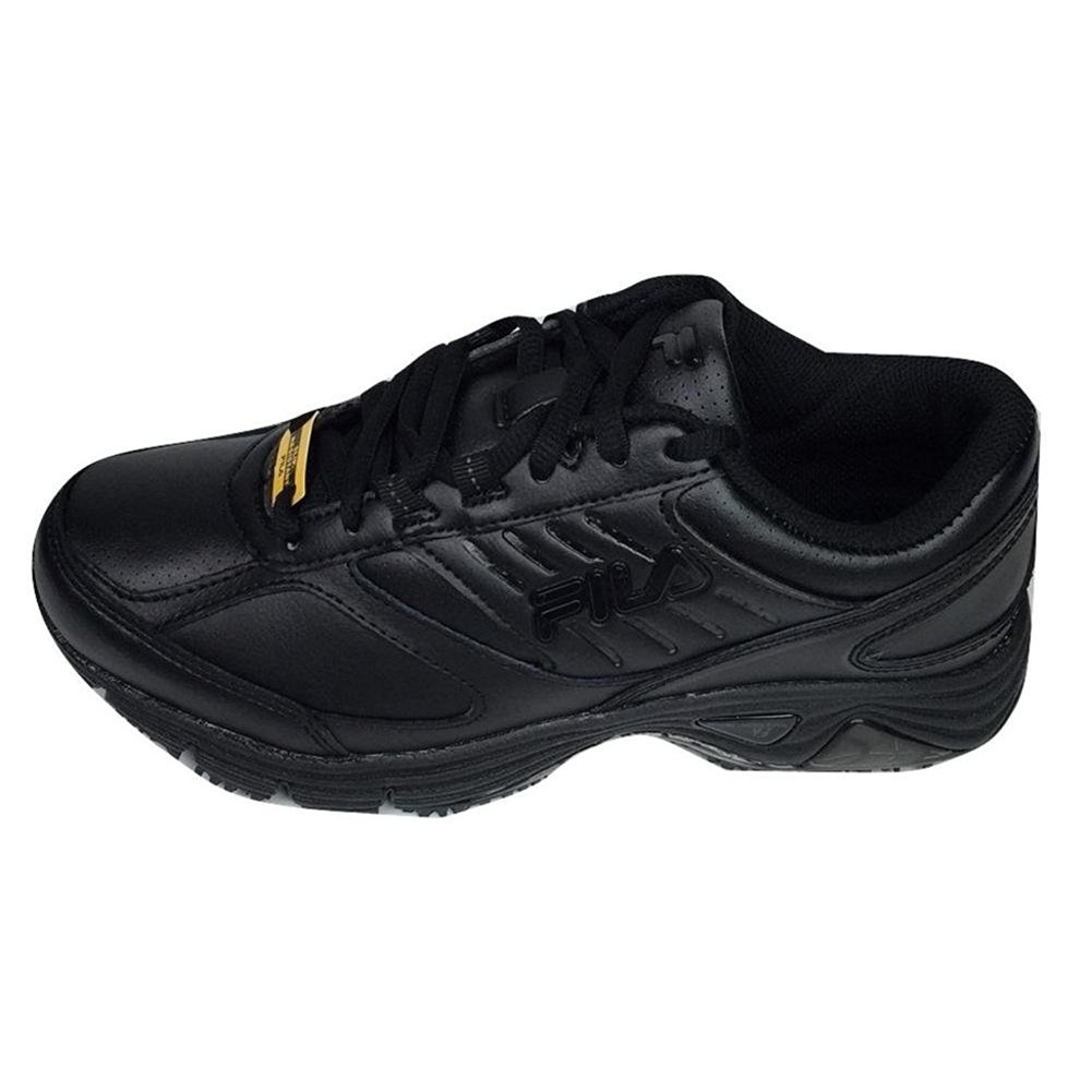 Fila Women's Memory Flux Slip Resistant Work Hiking Shoe, Black, 9.5 B US