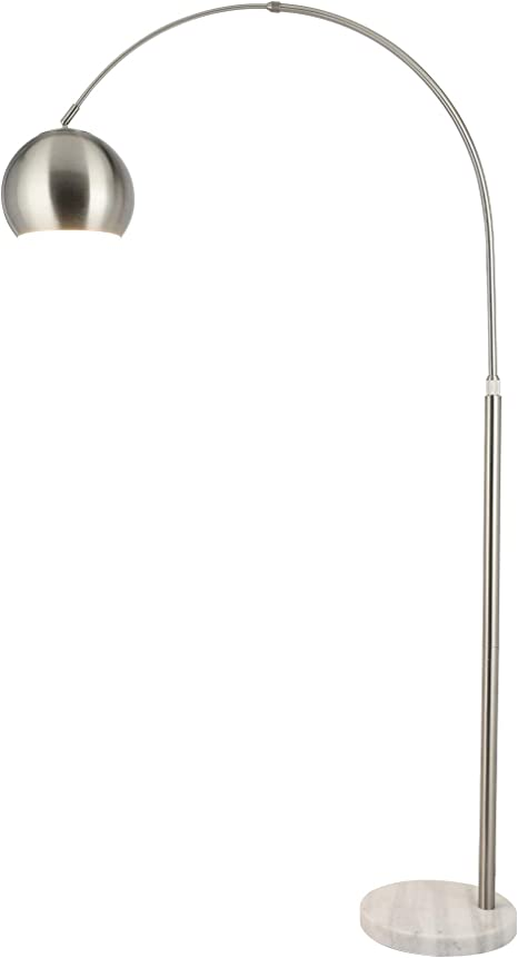 Co Z Modern Arc Floor Lamp With 360 Rotatable Hanging Shade Adjustable Nickel Standing Reading Light With Marble Base Contemporary Arch Metal Pole Task Lamp For Living Room Couch Sofa 70 Inch