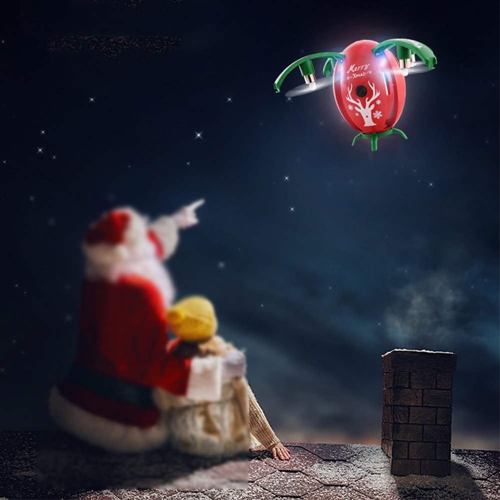 rosso OOFAY Drone Telecouomodato Con Teletelecamera Giocattoli Di Quadcopter Dell'antenna Del Fuco Di Altezza Fissa Dei Regali Di Natale
