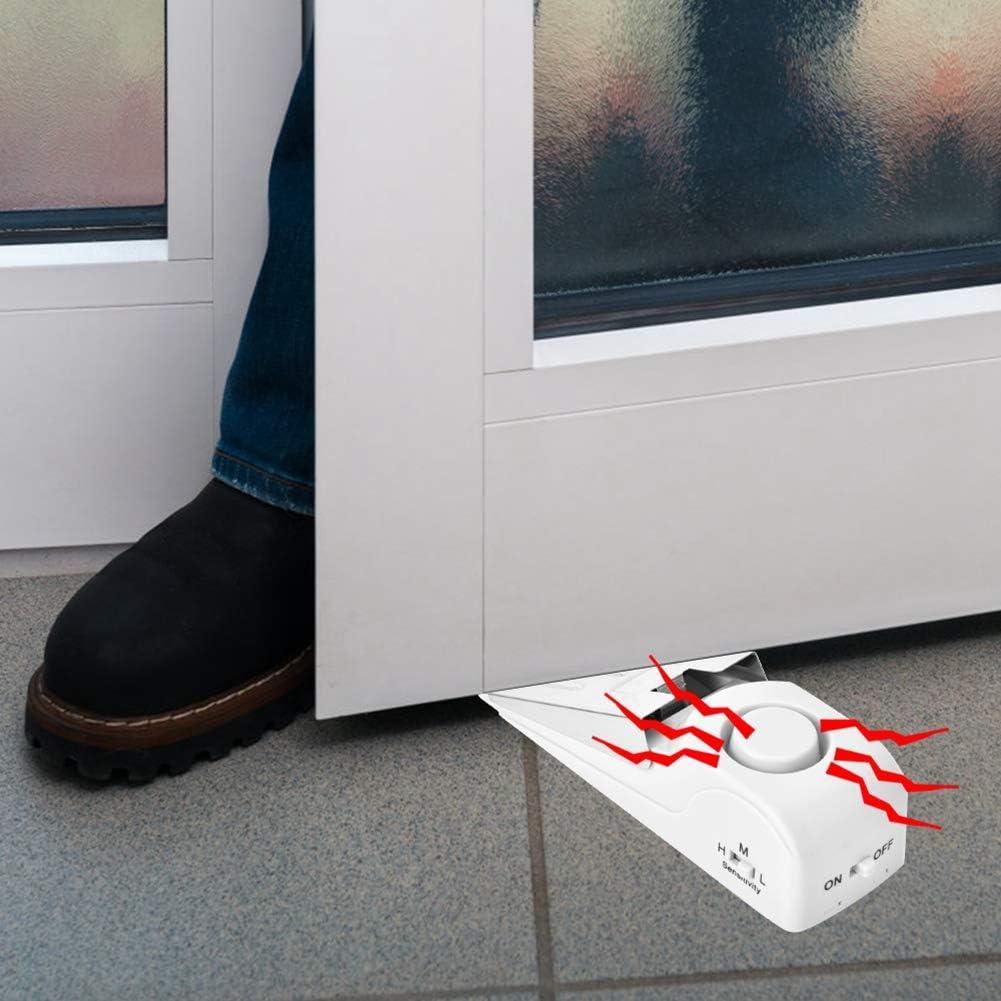 kabelloser Einbruchalarm f/ür Reisen Zuhause 120 dB Wohnung Zyyini T/ürstoppalarm tragbarer Sicherheits Home Wedge T/ürstoppalarm