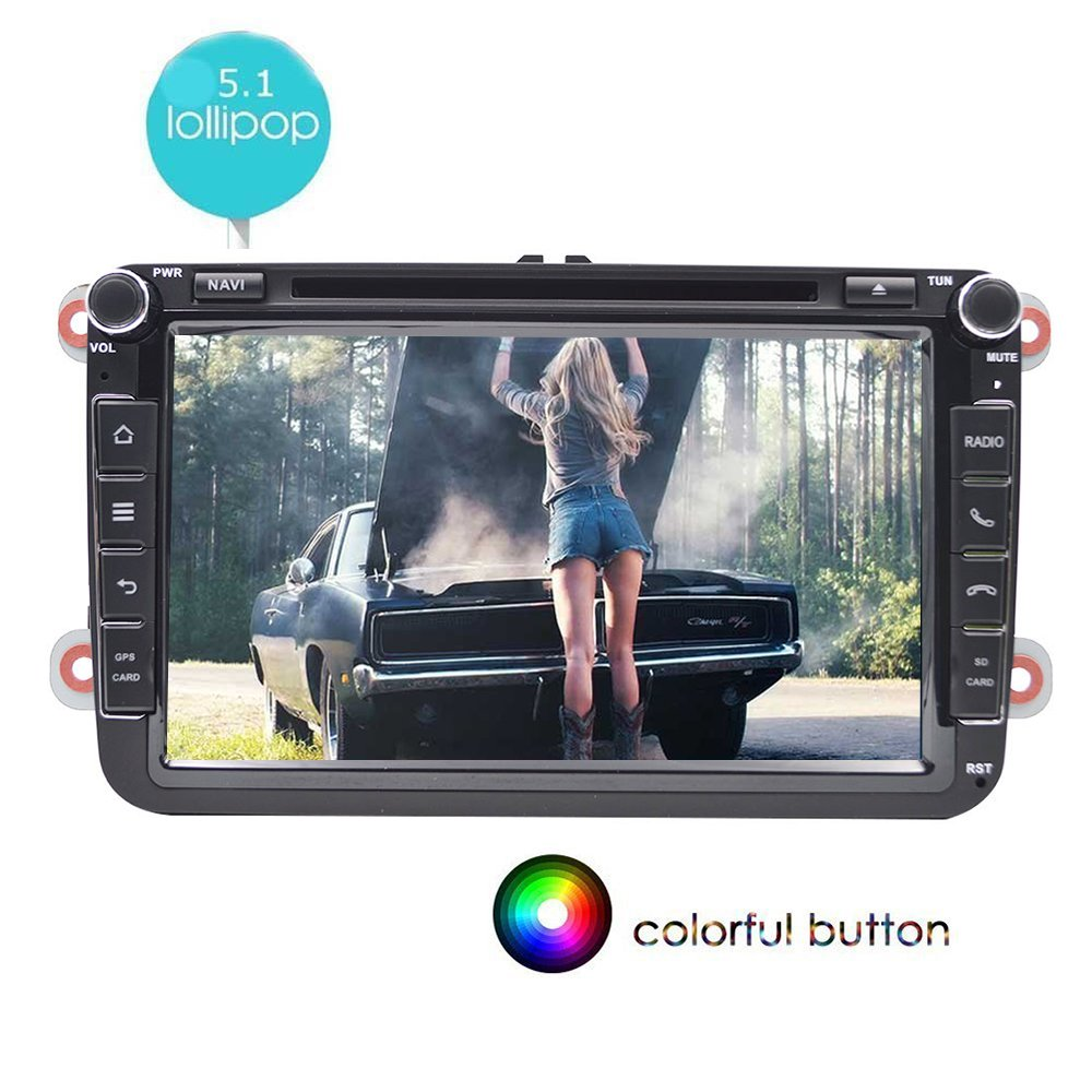 Doble DIN Android 5.1 8 pulgadas capacitiva multi-touch Screen Car ...