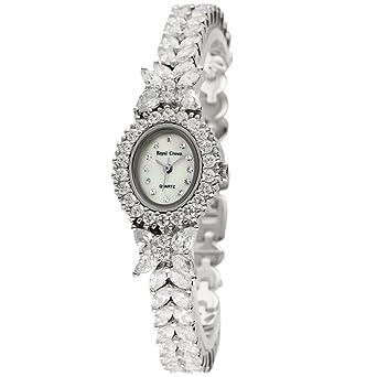 Royal Crown 2527b joya de la mujer de la moda de cuarzo japonés relojes lujo de Madreperla y B17: Amazon.es: Relojes