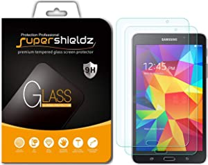 (2 Pack) Supershieldz for Samsung Galaxy Tab 4 7.0 Screen Protector, (Tempered Glass) Anti Scratch, Bubble Free