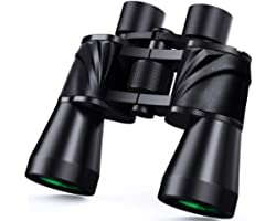 10x50 Powerfull Binoculars for Adults with Low Light Night Vision, Large Eyepiece, 10 Seconds Quick Focus, Waterproof Wide An