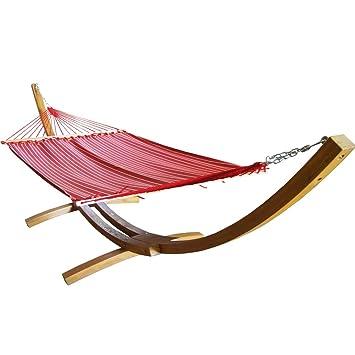 prime garden sunbrella fabric hammock14 feet wood arc hammock standbackyard setting amazon    prime garden sunbrella fabric hammock14 feet wood arc      rh   amazon
