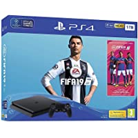 Sony Playstation 4 Slim 1TB Console with FIFA 19| Two DualShock 4 Controller | One DualShock 4 Charging Station | 3 Months PSN Subscription (PS4)