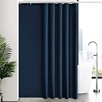Navy blue fabric shower curtain 210cm width new free shipping