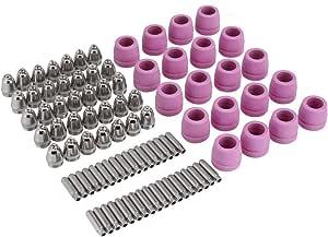 90 Unids Cortador De Plasma Antorcha Consumibles Electrodo Boquillas Tazas Kit Galvanizado Cobre Cerámica Home Improvement Amazon Com