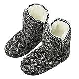 Women Girl Sherpa Fleece Warm Indoor Slippers Knit Bootie Socks Ankle Snow Boots