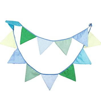 Nikgic Wimpelkette Baumwolle Wimpel Bunting Farbenfroh Wimpeln ...
