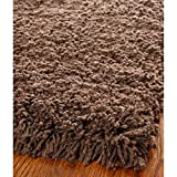 (US) Safavieh Shag Classic SG140E Handmade Chocolate Shag Rectangle Area Rug, 4 X 6