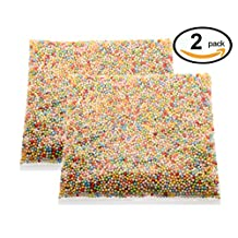 VAPKER Pack of 2 Mini Styrofoam Foam Balls 0.1-0.15 Inch Assorted Colors Household School Arts Crafts Supplies Fits For Stick to Slime (20000 Foam Balls)