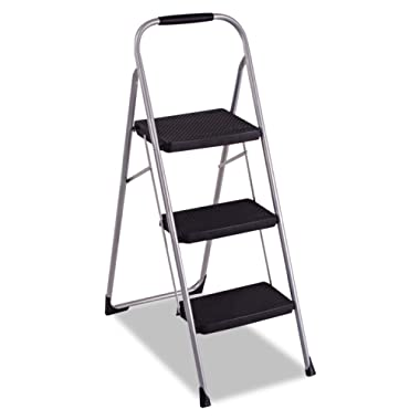 Cosco 3-Step Big Step Folding Stool - Platinum