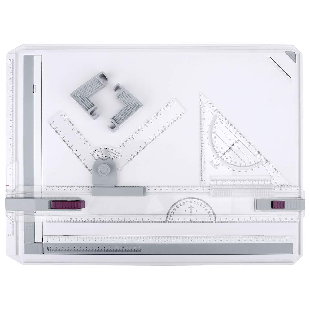 Drawing Board, HandsEase A3 Drawing Table Board Multi-Funtion Graphic Architectural Adjustable Measuring System Drawing Tool Set with Parallel Motion Accessories by HandsEase