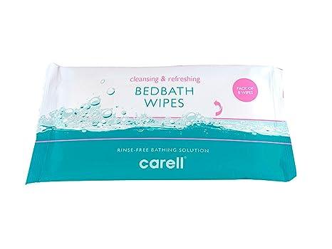 10 x Clinell bedbath Cama baño paciente Toallitas (paquete de 8) Hidratante baño Toallitas
